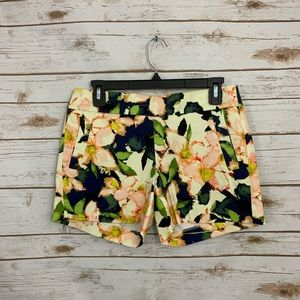 J Crew Floral Patterned Chino Shorts Stretch